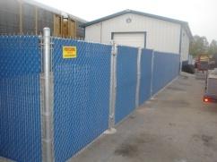 Blue Privacy Slats