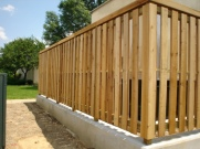 Trimmed Out Shadowbox Wood Fence