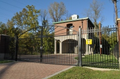 Custom Ornamental Gates at Mellwood Ave. Pump Station