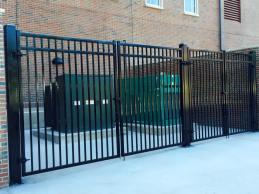 Ornamental Double-Drive Gates