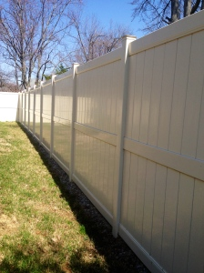 Beige Privacy Fence