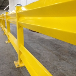 Yellow Double Guardrail Safety System