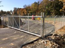 Chain Link Track Gate