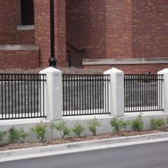 Ornamental Fence Between Columns