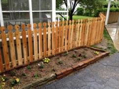 Spaced Virginia Picket Wood Fence