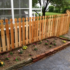 Spaced Virginia Picket Wood Fence