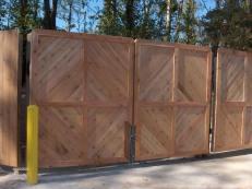 Custom Wooden Dumpster Pad Gates