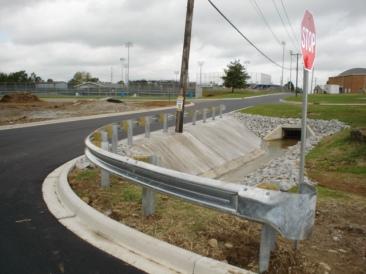 Curved/Radius Galvanized Guardrail
