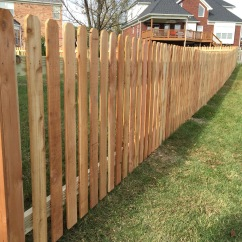 Spaced Picket Wood Fence