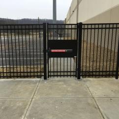 Panic Bar on Ornamental Pedestrian Gate
